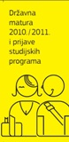 Leaflet on state matura 2010/2011<br/>and on applications for the study programs
